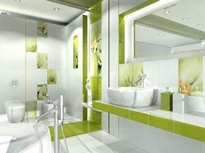 Комбинирование плитки в ванной комнате